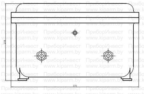 Источники высокого напряжения ИВН/ИВН-ТР-1ExdIIBT6 взрывонепроницаемая оболочка CCFE-3B/ Габаритные размеры