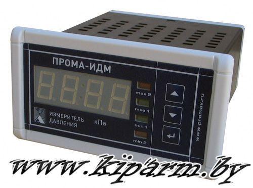 Измерители давления ПРОМА-ИДМ-010 со встроенным датчиком. Фото щитовое исполнение