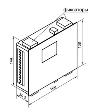 Щ7 – корпус щитового крепления с размерами 144×169×50,5 мм, степенью защиты со стороны лицевой панели IP54 и степенью защиты корпуса – IР00.