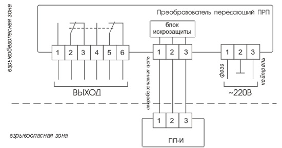 Схема соединения РОС-501